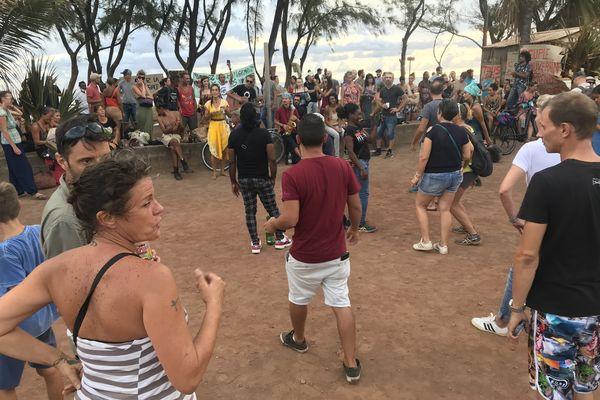 Manif anti couvre feu Saint Pierre