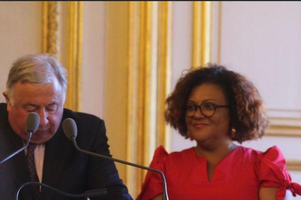 Catherine Conconne et Gérard Larcher