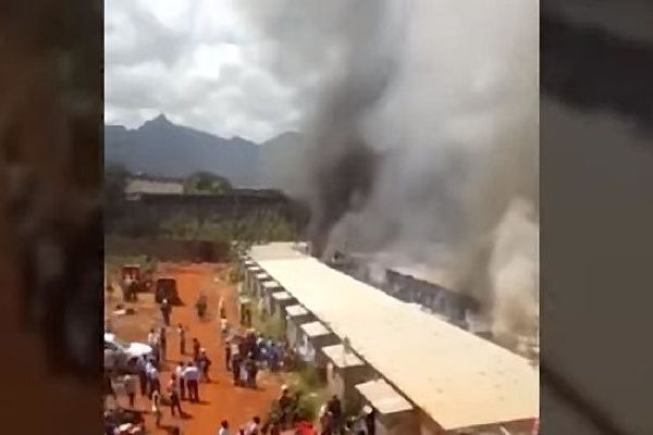 Incendie cité Longères à l'île Maurice 20 nov 2019