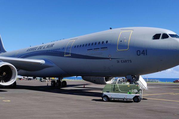 L'Airbus A330 MRTT (Multi Rôle Tanker transport) baptisé Phenix est arrivé à La Réunion.