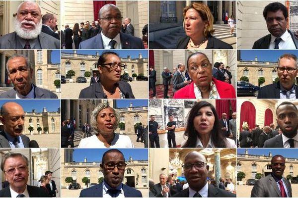 Réactions des élus d'Outre-mer après le discours d'Emmanuel macron lors de la remise du Livre bleu
