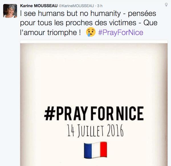 Tweet Karine Mousseau