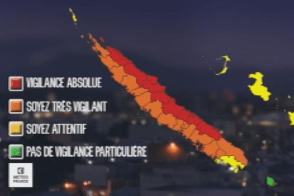 Carte météo : vigilance rouge
