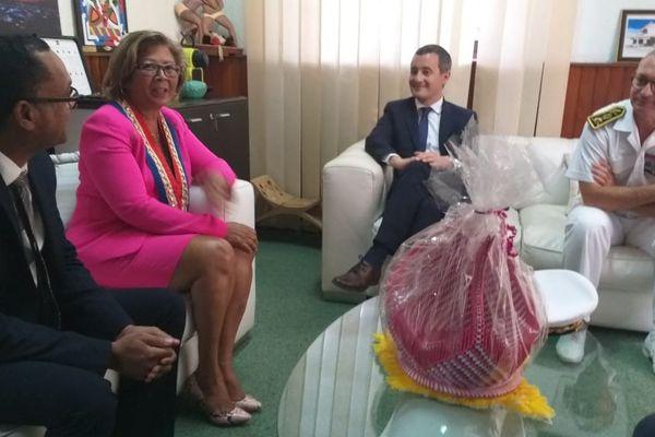 Gérald Darmanin reçu par la maire de Cayenne Marie Laure Phinéra Horth