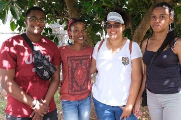 Une partie des étudiants venus de la Martinique pour les Univers 'îliennes