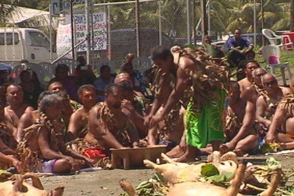 Cérémonie du kava royal en l'honneur du roi d'Alo