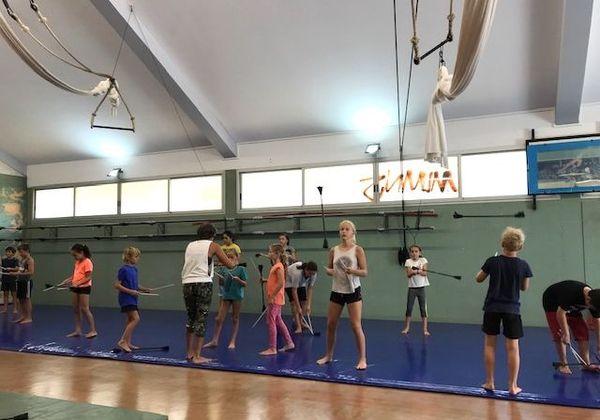 Stage avec l'école de cirque à Rivière-Salée, janvier 2020