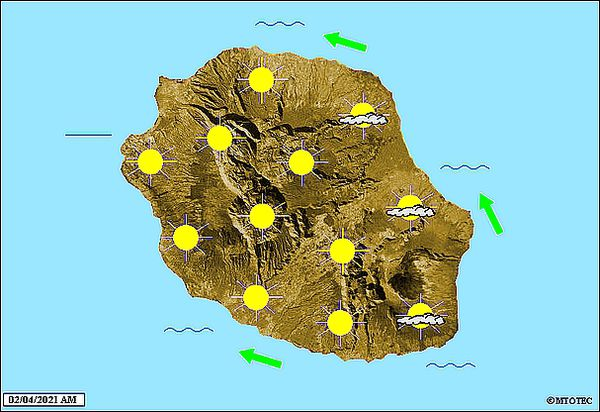 Carte météo 2 avril 2021