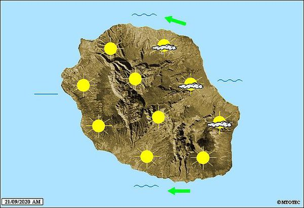 Carte météo 21 septembre 2020