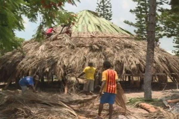 Rénovation du faré du lycée des îles