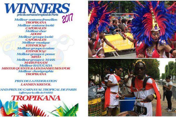 Qui Sont Les Gagnants Du Carnaval Tropical De Paris 2017 Outre Mer La 1