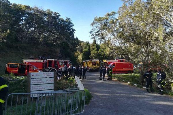 Incendie au Maïdo Jour 3 poste de commandement des pompiers route forestiere des Tamarins 091120