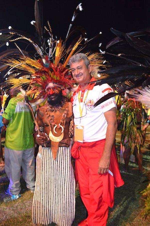 Cérémonie d'ouverture des XVème Jeux du Pacifique 2015 en Papouasie Nouvelle-Guinée - Séance photos