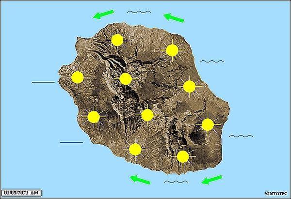Carte météo 1 mars 2021