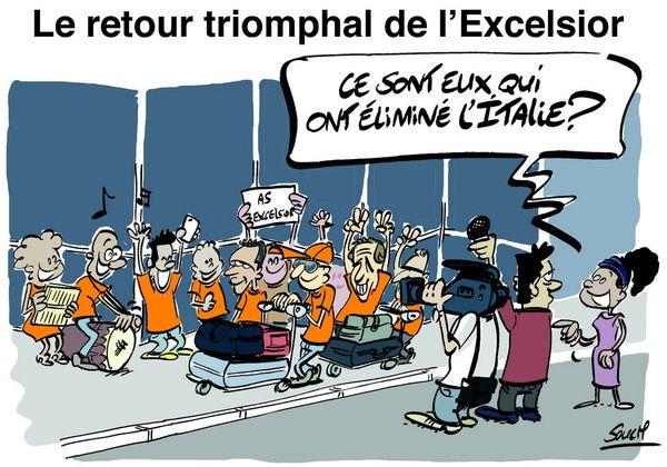 Le dessin de Souch : Excelsior-Italie