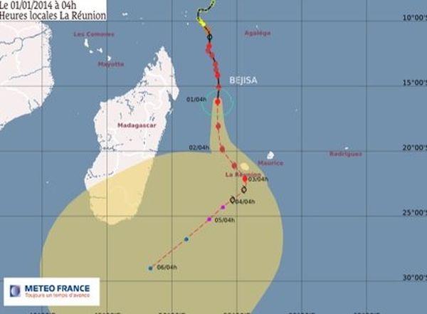Bejisa à 515 km de La Réunion