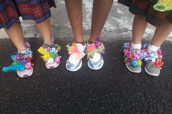 """""""Crazy Shoes Day"""" trio"""