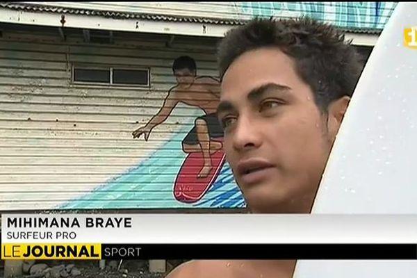 Mihimana Braye, étoile montante du surf tahitien