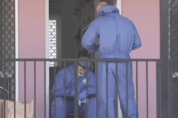 La police scientifique sur les lieux de l'agression