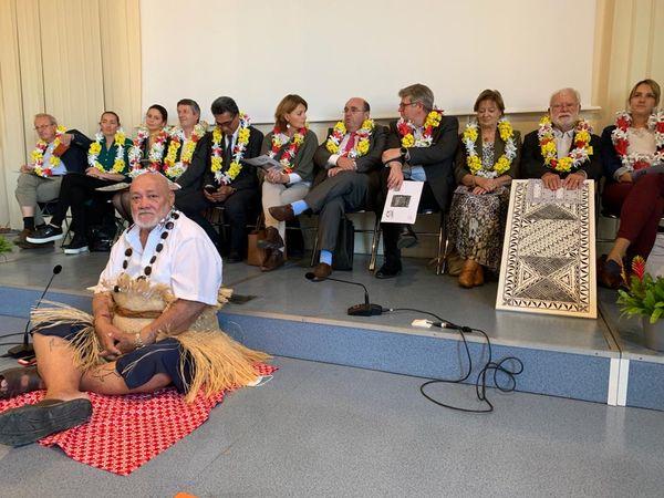 Pendant la cérémonie d'ouverture du festival Rochefort Pacifique