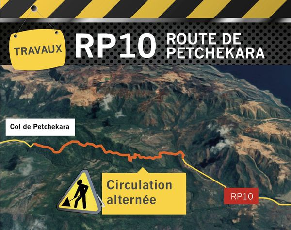 Carte de travaux route de Petchékara