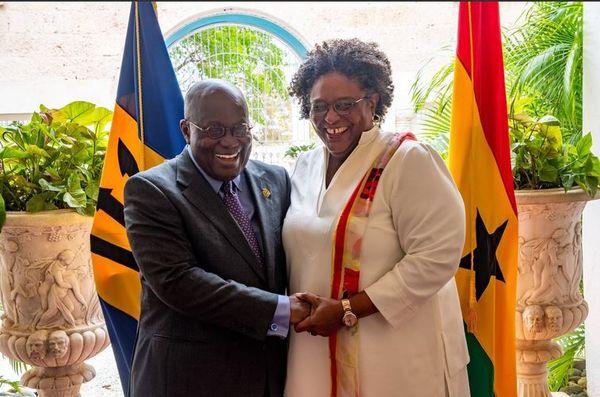 Visite du président du Ghana à Barbade