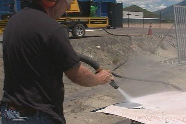Feuilleton économie circulaire hydrogommage sable de verre