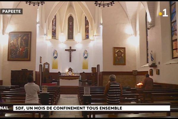 Confinement : un dimanche à la cathédrale de Papeete