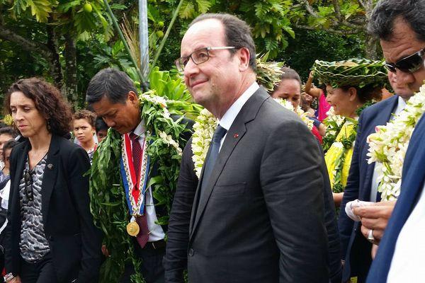 Visite présidentielle - Le président de la République François Hollande en Polynésie française (Tahiti et Raiatea)