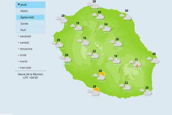 Carte météo jeudi 11 janvier 2018