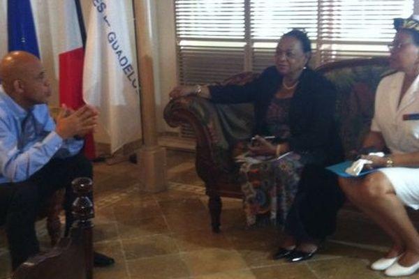 Michel Martelly en escale en Guadeloupe