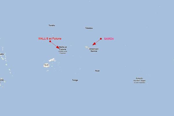 carte samoa Wallis et Futuna