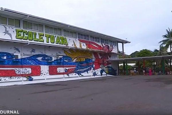 Street Art : une fresque sur les murs de l'école