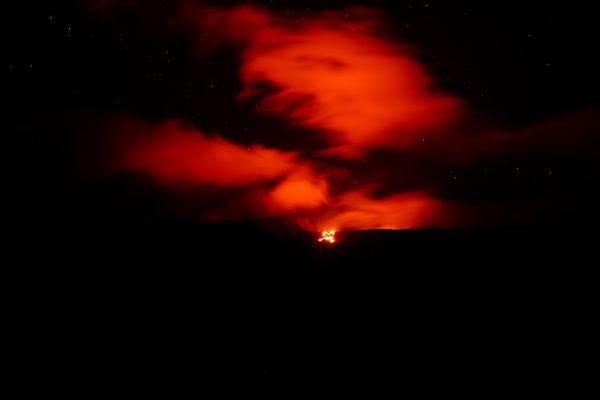 vocal piton de la fournaise éruption nuit coulée lave grandes pentes 080521