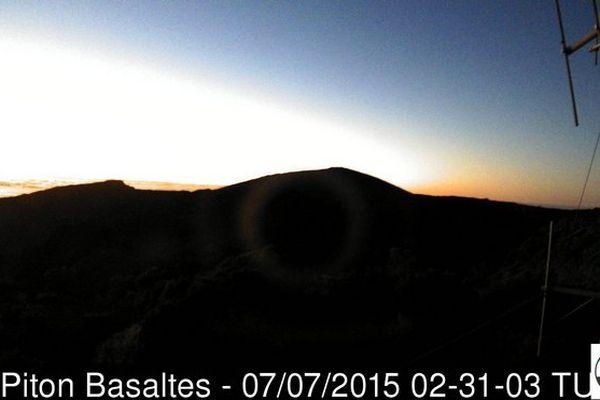 Volcan au levé du jour