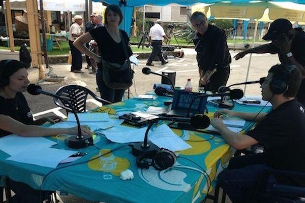 Journalistes radio à koné