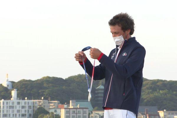 JO 2021, Thomas Goyard reçoit sa médaille d'argent