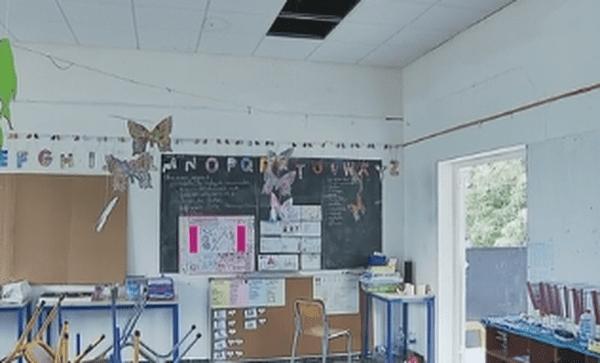 salle de classe de l'école de Fiua à Futuna