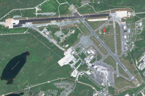 Aéroport de Saint John's vu du ciel