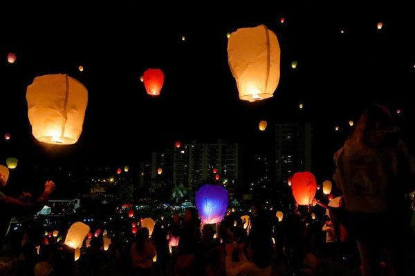 Lanternes célestes Nouméa anniversaire