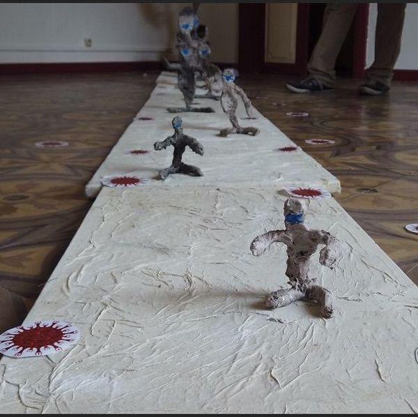 Sculptures coronavirus