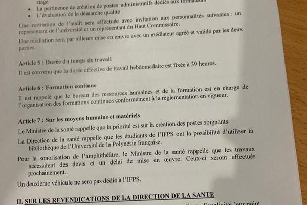 La grève au CH PF est levée les deux parties ont signé un accord.