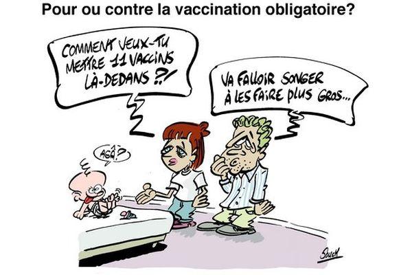 Le dessin de souch : Vaccination obligatoire