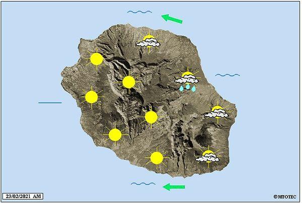 Carte météo 23 février 2021