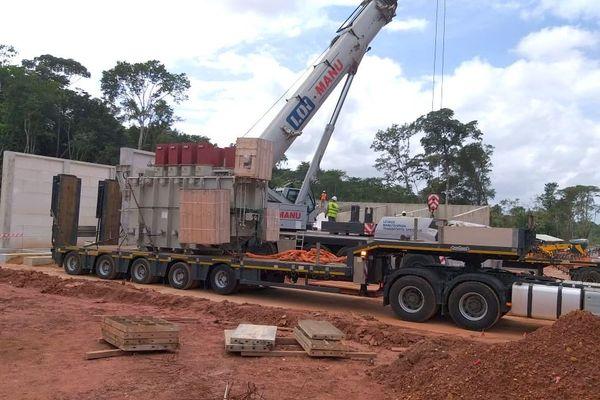 Installation d'un transformateur au Galion par EDF