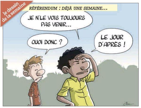 Référendum, dessin de Jilème dans LNC du 10 novembre