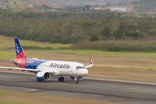 Avion d'Air Calédonie international, le 31 août 2021, à Tontouta.