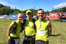 Leslie Nowicki, Oswald Cocherau, et Ludovic Lanceleur, vainqueurs de la Transcal 2016