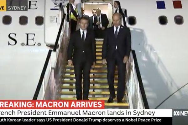 Australie : arrivée du président de la République