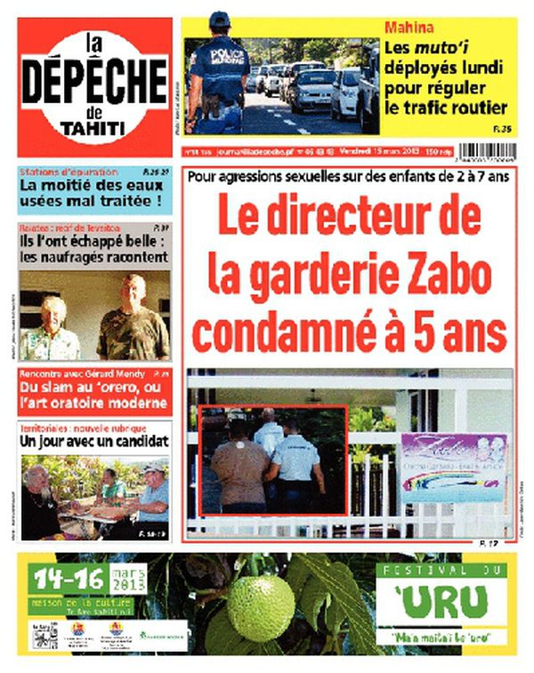 La Dépêche de Tahiti du 15 mars 2013